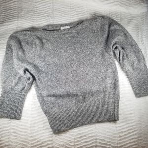 Vinage silk/angora blend crop sweater